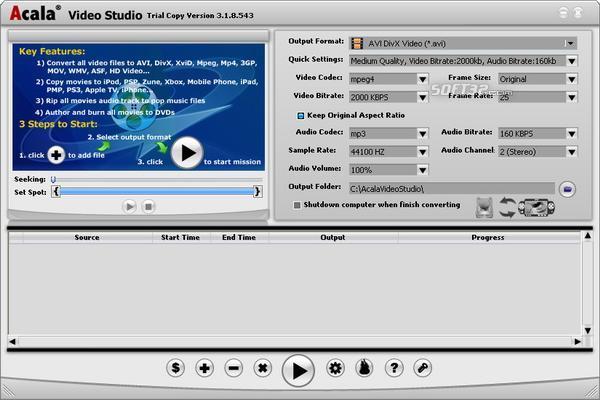 Acala Video Studio Screenshot 3