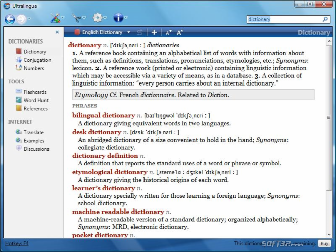 German-English Dictionary by Ultralingua for Windows Screenshot 3