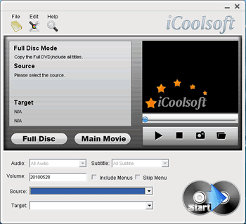 iCoolsoft DVD Copy Screenshot