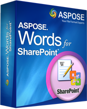 Aspose.Words for SharePoint Screenshot