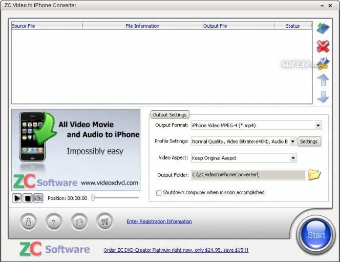 ZC Video to iPhone Converter Screenshot 2