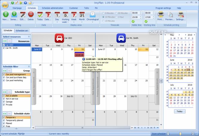 !myPlan Professional Screenshot 2