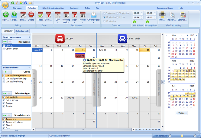 !myPlan Professional Screenshot