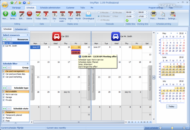!myPlan Freeware Screenshot 2