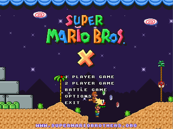 Super Mario Bros X Screenshot 1