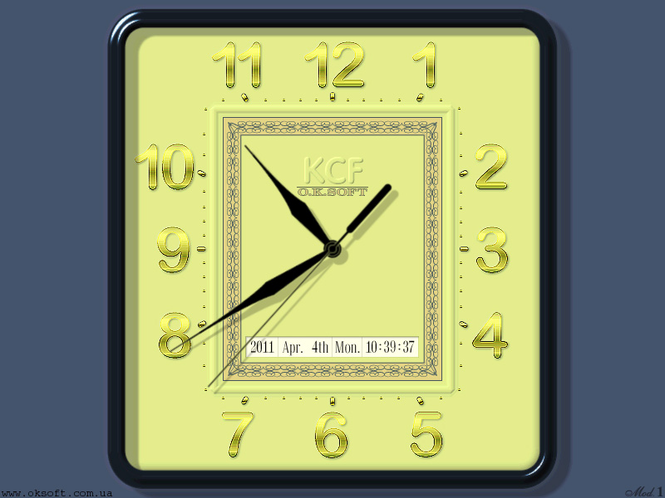 KCF Clock Model 1 Screenshot