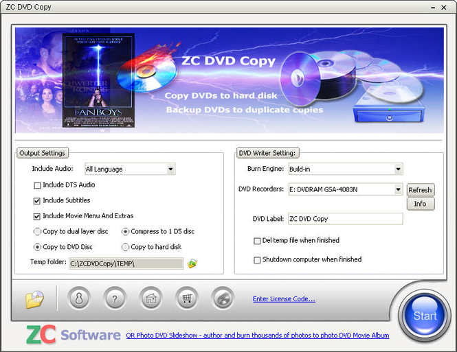 ZC DVD Copy Screenshot