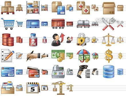 Large Logistics Icons Screenshot 2