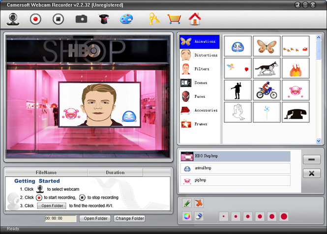 Camersoft Webcam Recorder Screenshot 1