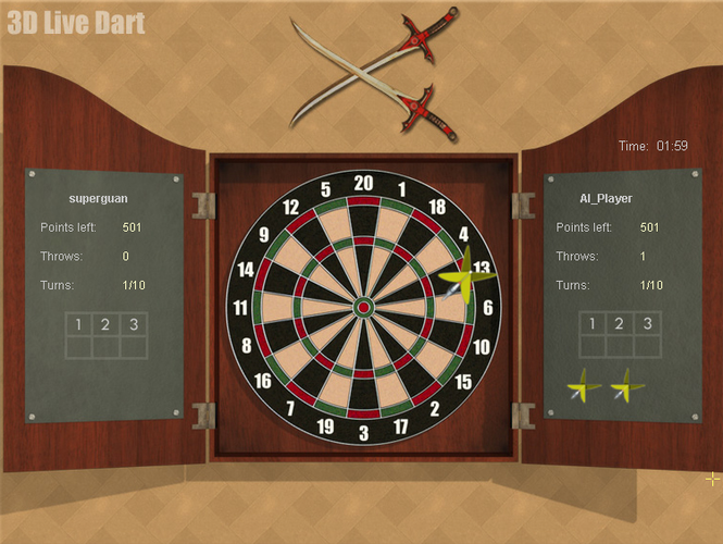 3D Live Darts Screenshot