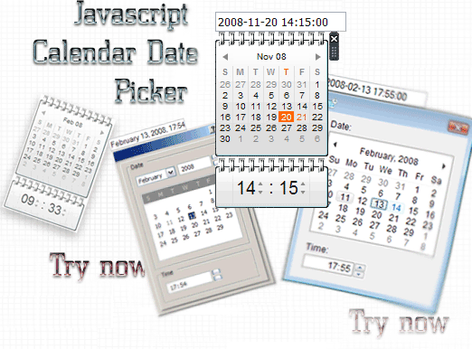 Javascript Calendar Date Picker Screenshot