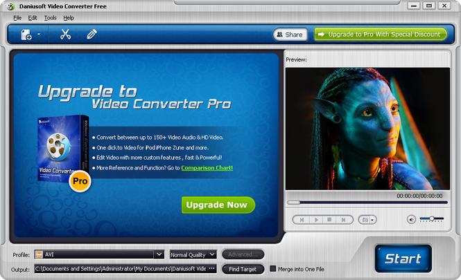 Daniusoft Video Converter Free Screenshot