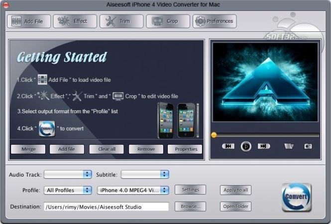 Aiseesoft Mac iPhone 4 Video Converter Screenshot 3