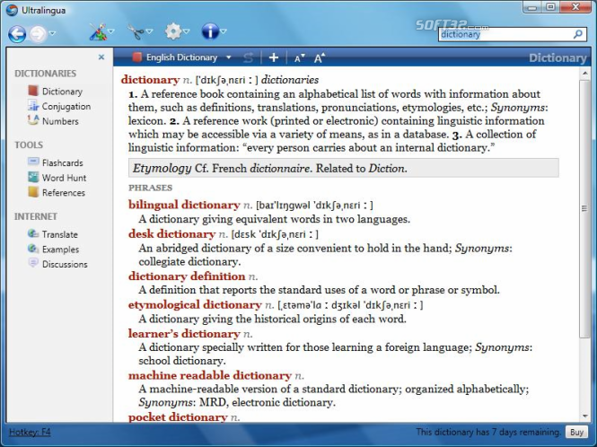 Italian-English Dictionary by Ultralingua for Windows Screenshot 3