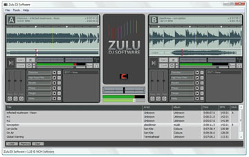 Zulu Free Virtual DJ and Music Mixing Software Screenshot