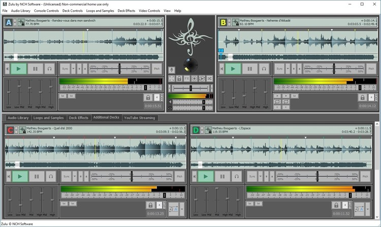 Zulu DJ Software Free Screenshot