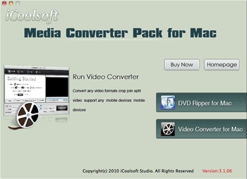 iCoolsoft Media Converter Pack for Mac Screenshot
