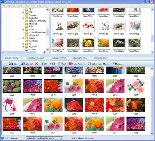 Socusoft 3GP Photo Slideshow Screenshot 1