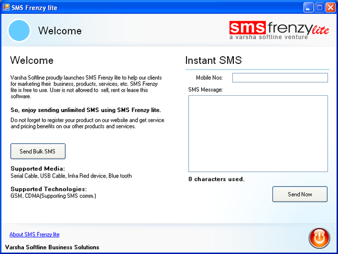 SMS Frenzy lite Screenshot