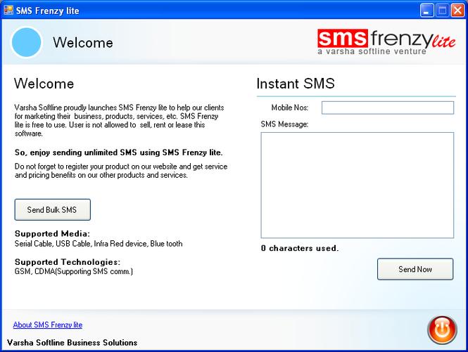 SMS Frenzy lite Screenshot 1