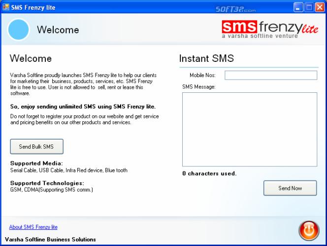 SMS Frenzy lite Screenshot 2