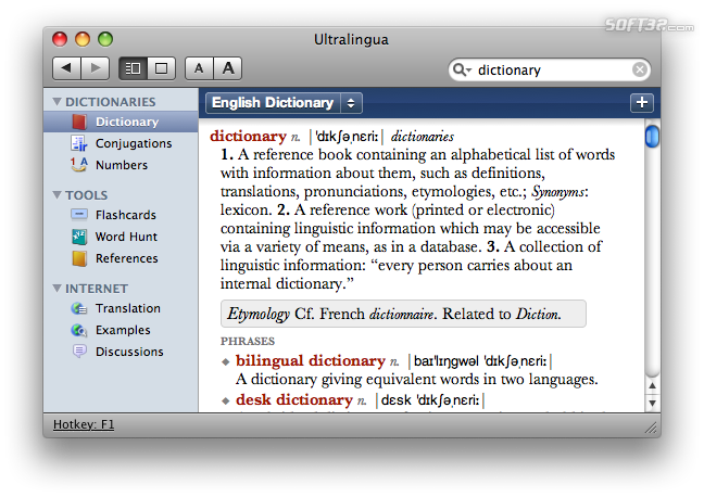 Latin-English Dictionary by Ultralingua for Mac Screenshot 2