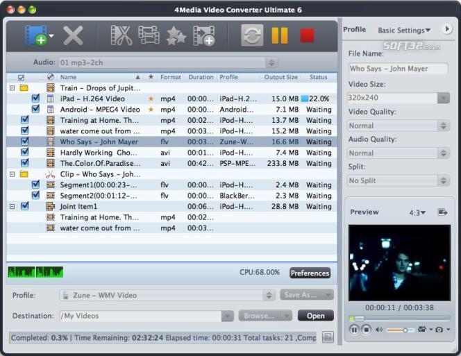 4Media Video Converter Ultimate for Mac Screenshot 2