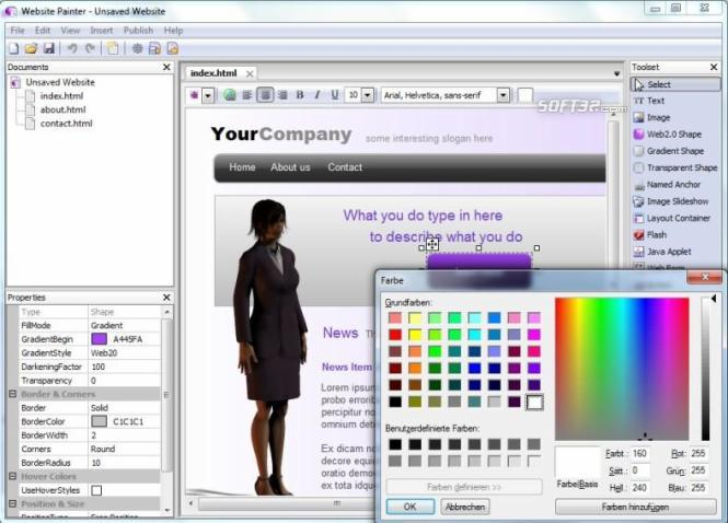 WebsitePainter Screenshot 2