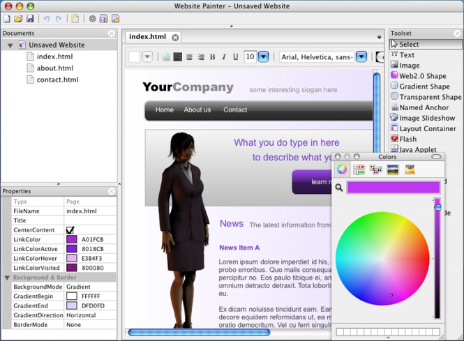 WebsitePainter for Mac Screenshot