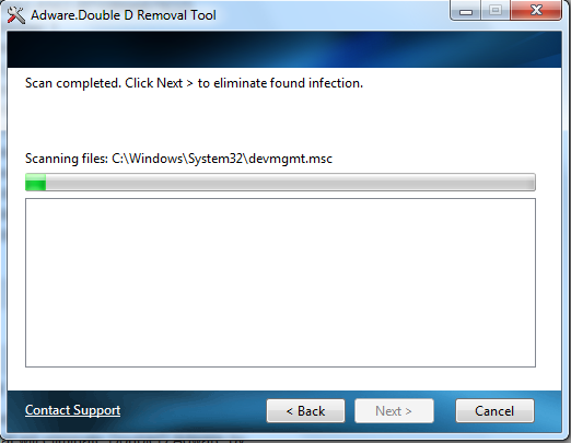 Adware.Doubled Removal Tool Screenshot