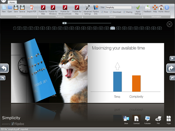 Page Flip Software Screenshot 1