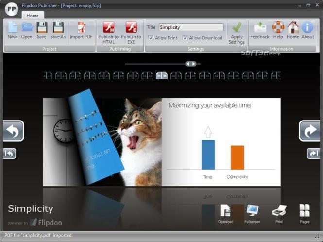 Page Flip Software Screenshot 2