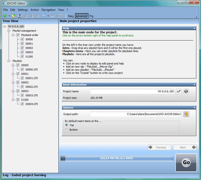 Free AVCHD Editor Screenshot 1