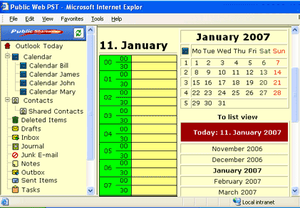 Public WEB PST for Outlook Screenshot