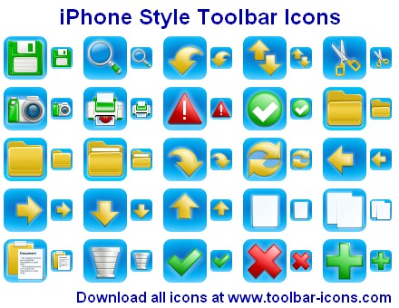 iPhone Style Toolbar Icons Screenshot