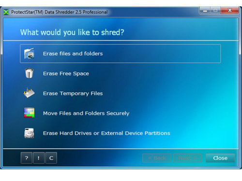 ProtectStar Data Shredder Professional Screenshot