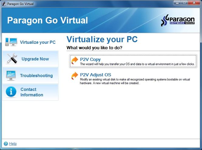Paragon Go Virtual (64-bit) Screenshot 1