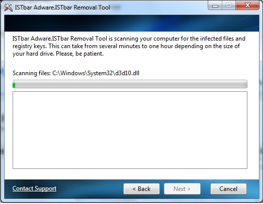 ISTbar Removal Tool Screenshot 1