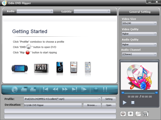 Odin DVD Ripper Screenshot