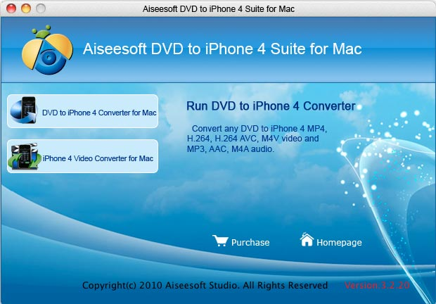 Aiseesoft DVD to iPhone 4 Suite for Mac Screenshot