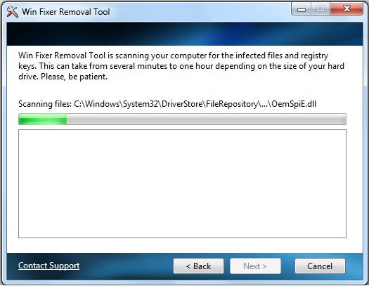 Winfixer Removal Tool Screenshot 1