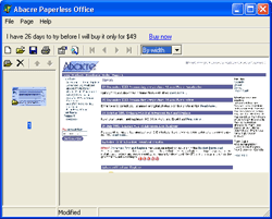 Abacre Paperless Office Screenshot