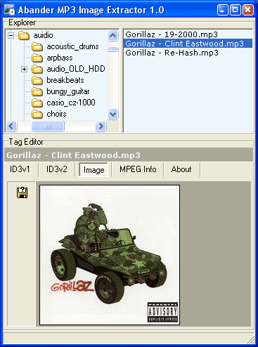 Abander MP3 Image Extractor Screenshot