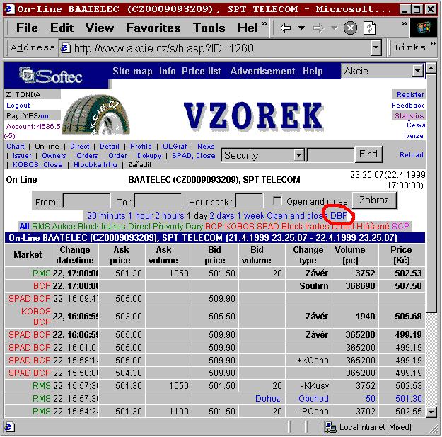 ASP MDB/DBF database converter Screenshot