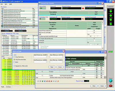 Atelier Web Ports Traffic Analyzer Screenshot