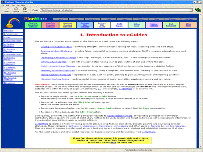 Business Plan eGuides Screenshot 1