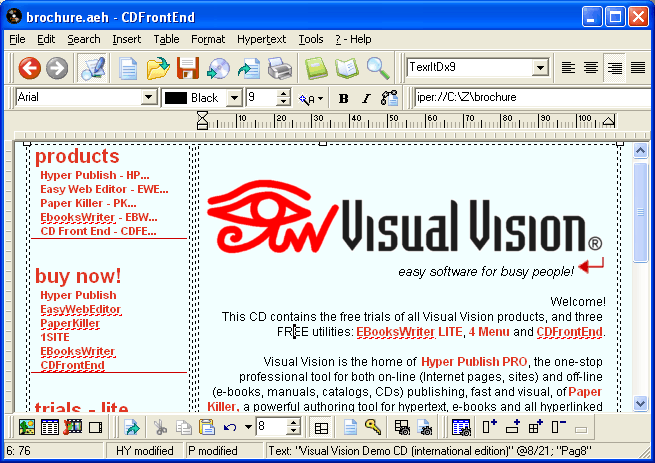 CD Front End GOLD Screenshot