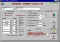 Chemical Reagent Calculator 1