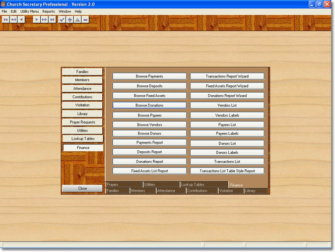 Church Secretary Professional Edition Screenshot 1