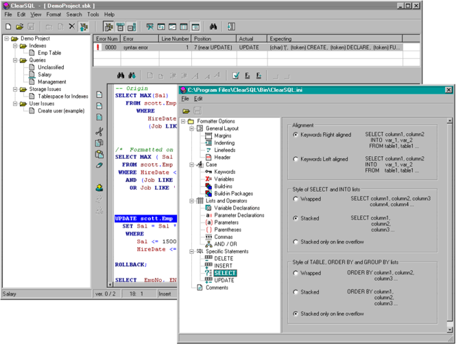 ClearSQL Screenshot 1